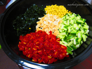 Japanese Udon Salad Toppings!