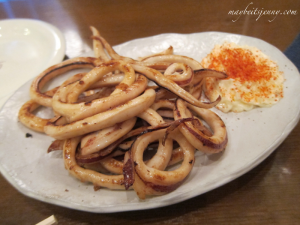 SURUMEIKA NO BUTTER SHOYU YAKI (Grilled squid with butter and soy sauce)