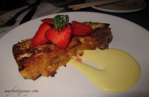 Bread Pudding (french toast, tarragon anglaise, kula strawberries)