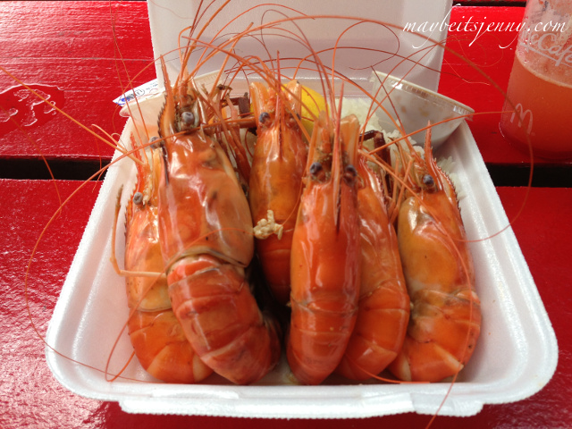 Number 5 - Prawns!  I get it with the butter garlic sauce.  Sinfully delicious.