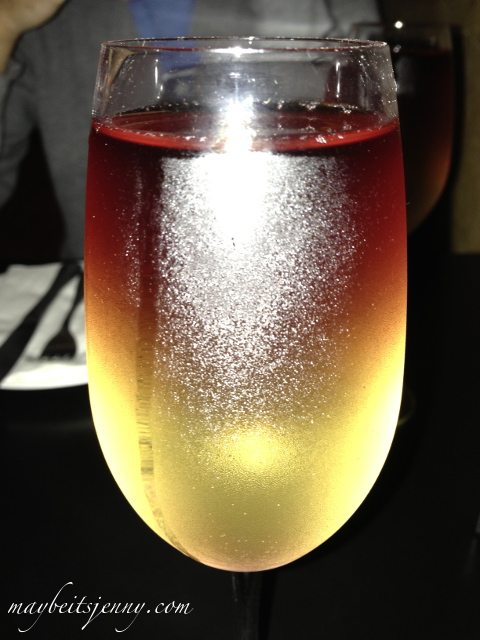Moscato Sunrise - the best part of my meal.  Pinot Grigio and Moscato served together, gorgeous right?