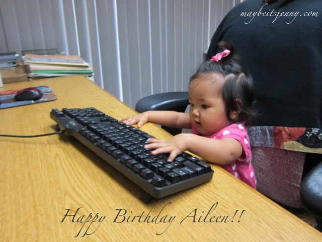 Don't work too hard on your birthday Aileen.  :)