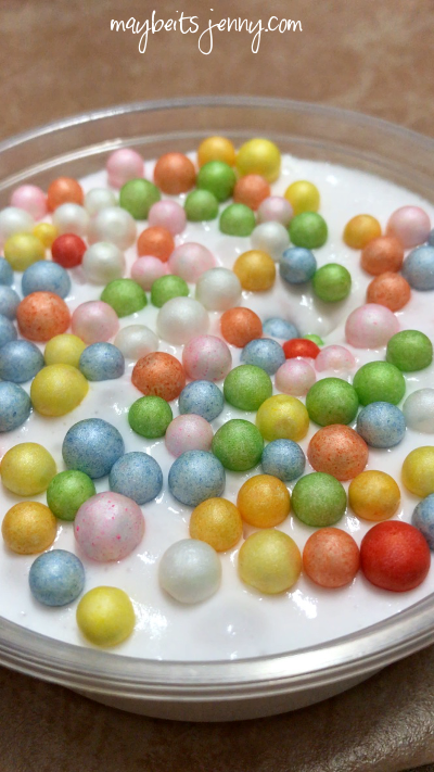 Where have i been maybeitsjenny this is a slime i like to call trix cereal hahample white slime with multi color foam balls ccuart Image collections
